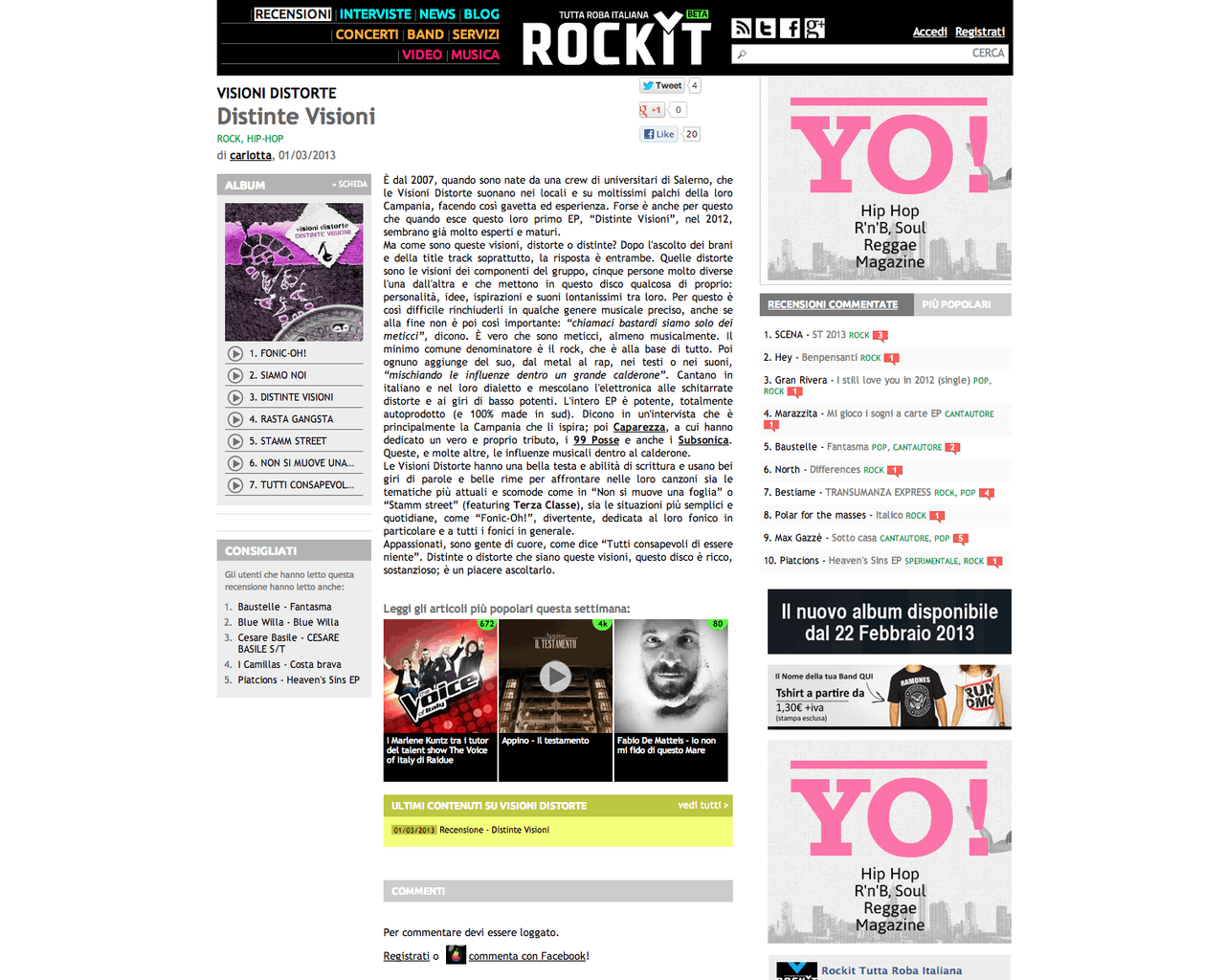 Recensione Distinte Visioni Su Rockit.it